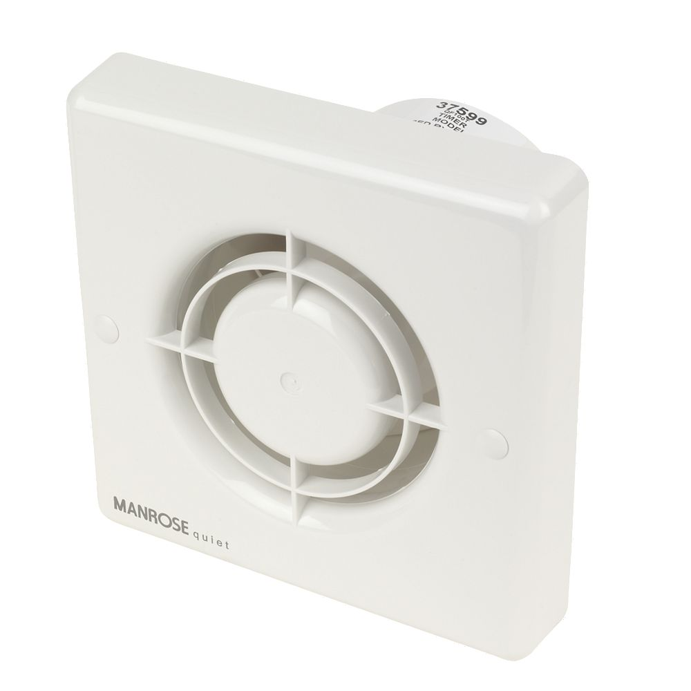 Manrose QF100T quiet timer extractor fan