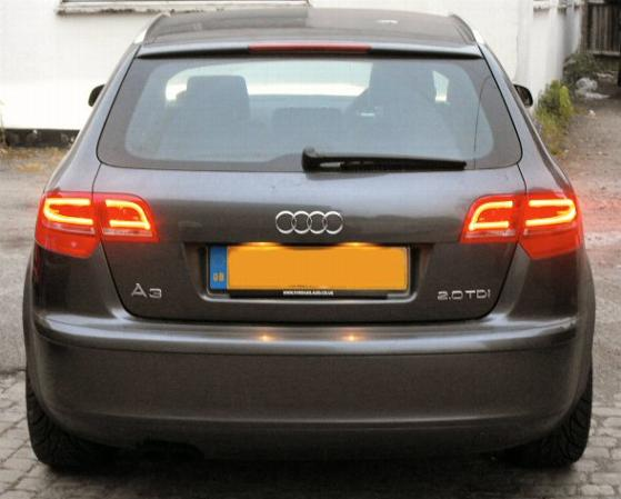 audi a3 8p rear led lights sportback 5dr models only. Black Bedroom Furniture Sets. Home Design Ideas