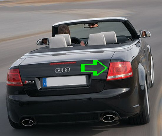 RS4 Cabriolet LED Style Rear Lights Facelift Style 2007