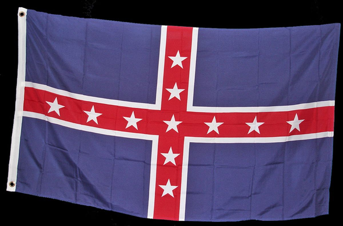 the battle flag of the confederacy The confederate battle flag was incorporated in to the state flag's design in 1956, a symbol of the state's opposition to racial integration, according to a report by the state senate in 2000.